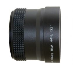 0.219x Fisheye (Fish-Eye) Lens For Leica D-LUX4 (Includes Lens Adapter)
