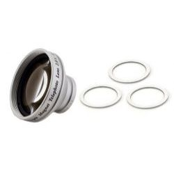2.0x Magnetic Stick-On Telephoto Conversion Lens For Compact Digital Cameras