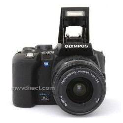 Olympus Evolt E-500, 8.0 Megapixel, SLR, Digital Camera (Black) with Olympus 14-45mm f/3.5-5.6 Zuiko EZ Zoom Lens & Olympus 40-150mm f/3.5-4.5 Zuiko EZ Zoom Lens