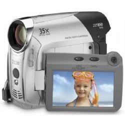 Canon ZR-850 Mini DV Camcorder, 1.07 MP CCD, 35x Optical/1000x Digital Zoom, 1152 x 864 Still Image Resolution, 2.7 Inch LCD Screen
