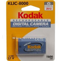 Kodak KLIC-8000 Rechargeable Lithium-Ion Battery (3.7v, 1600mAh) for Select Kodak EasyShare Z Series Digital Camera