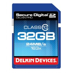 32GB Pro Class 10 SDHC Memory Card by Delkin Devices