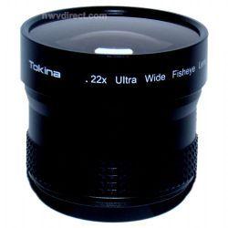 Digital 0.22x Wide Angle/Fisheye Lens For Video & Digital Thread Sizes 43/46/52/55 & 58mm (Black Finish)