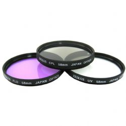 55mm Multi-Coated 3 Piece Filter Kit by Zeikos