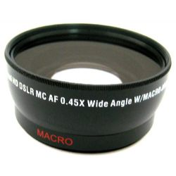 58mm 0.45X high definition Super Wide Angle lens with Macro attachment by Zeikos