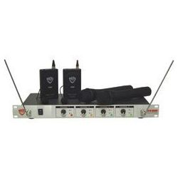4-Channel Professional VHF Wireless Hand-Held Microphone System