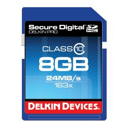 8GB eFilm SDHC PRO Memory Card by Delkin Devices