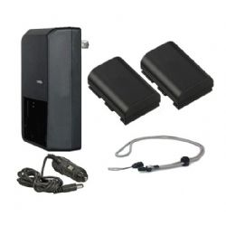 High Capacity 'Intelligent' Batteries (2 Units) + AC/DC Travel Charger + Krusell Lanyard Strap