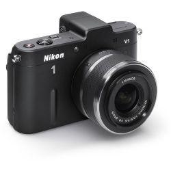 Nikon 1 V1 Mirrorless Digital Camera with 10-30mm Lens (Black) ||
