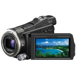 """Sony HDR-CX700V Camcorder   1920 x 1080/60p HD Recording   96GB Internal Flash Memory   Memory Stick Duo / SD Memory Card Slot   3.0"""" WIDE Xtra Fine Touch Panel LCD   Sony Lens G with 37mm Filter Diameter   10x Optical and 120x Digital Zoom   HDR-CX700V"""