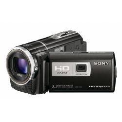"Sony HDR-PJ10 Camcorder | Built-In Projector | 1920 x 1080 HD Recording | 16GB Internal Flash Memory | Memory Stick Duo / SD Memory Card Slot | 1/4"" Exmor R CMOS Sensor | 3.3MP Still Image Recording | HDR-PJ10"